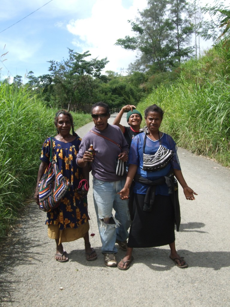 Three generations of Papua New Guinean women, Simbu Province