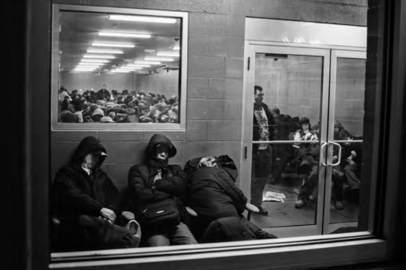 The Endless Bus Trip A Visual Essay  Anthropology Now A Waiting Room At The Sands Casino Once Many Buskkun Arrive At Their