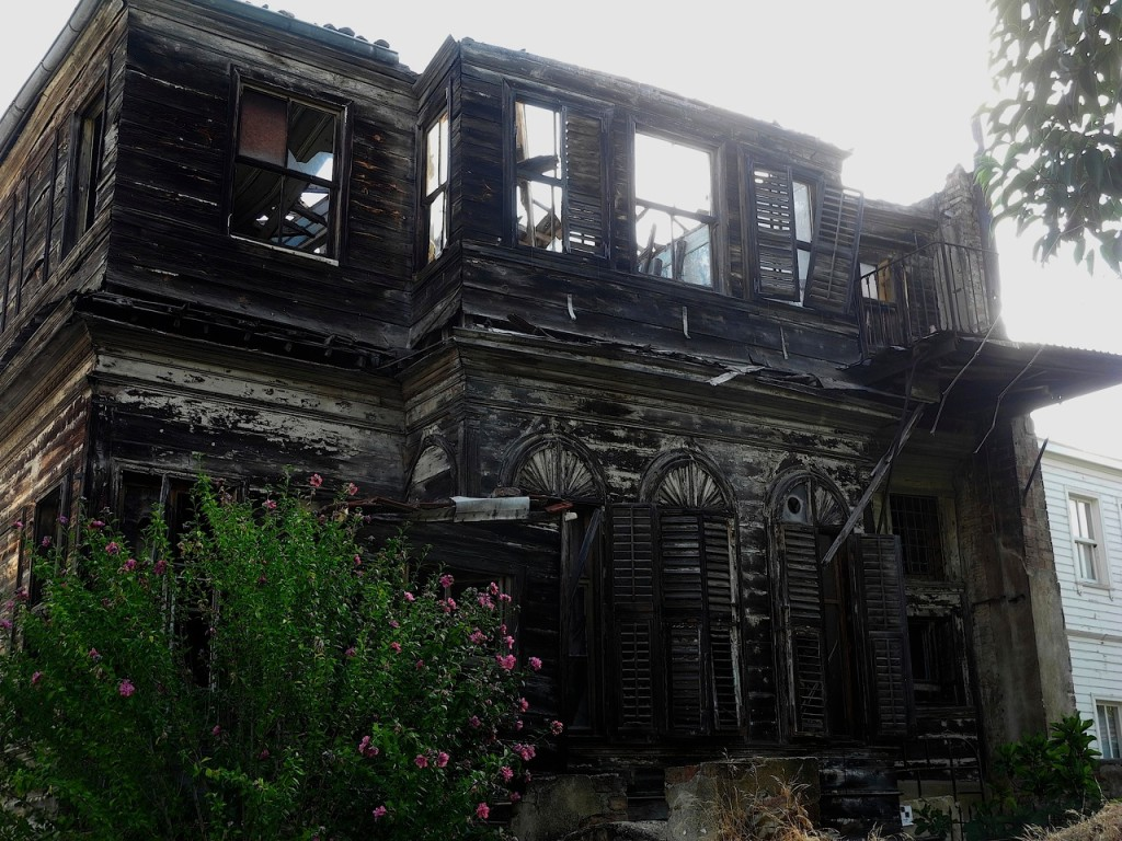A derelict home, once owned by a prominent Armenian family, on the island of Heybeliada off Istanbul. Photo by Mary D'Ambrosio.