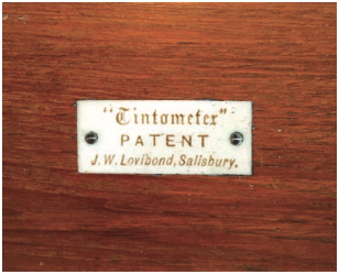 Figure 3. The label on the tintometer box. Courtesy Emily Martin.